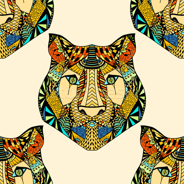 Tiger pattern. Vector illustration Stock photo © frescomovie