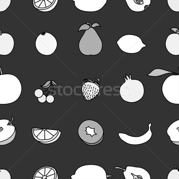 Stock photo: Set of Fruit icon