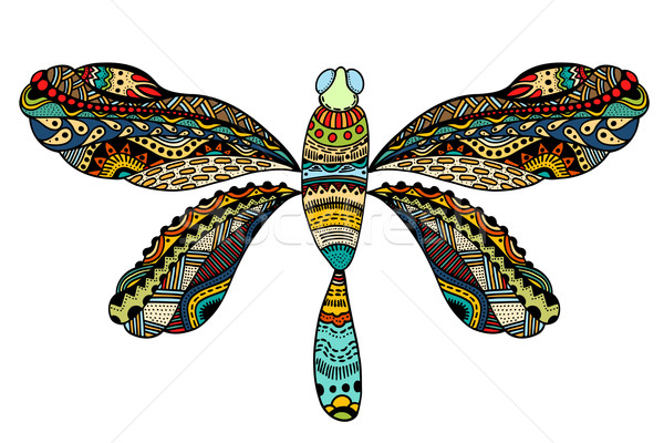 ornate zentangle dragonfly Stock photo © frescomovie