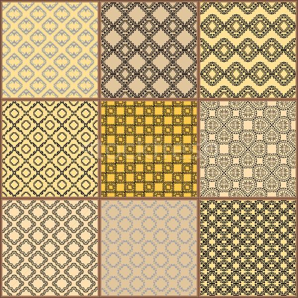 Tuiles étage ornement ensemble Photo stock © frescomovie