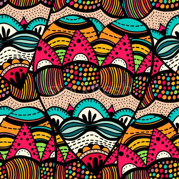 Original desenho tribal spiralis rabisco Foto stock © frescomovie