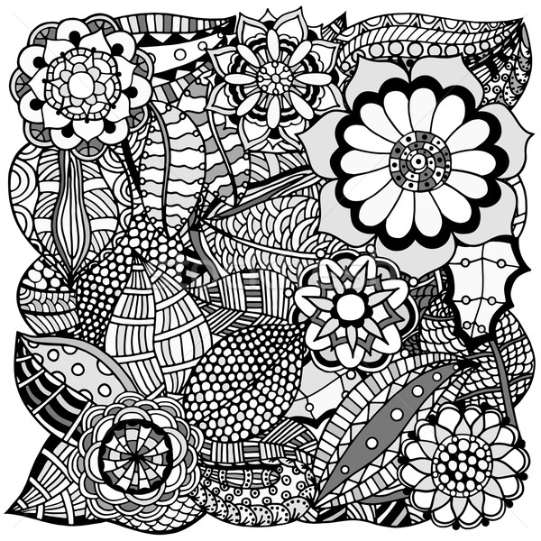 floral zentangle Stock photo © frescomovie