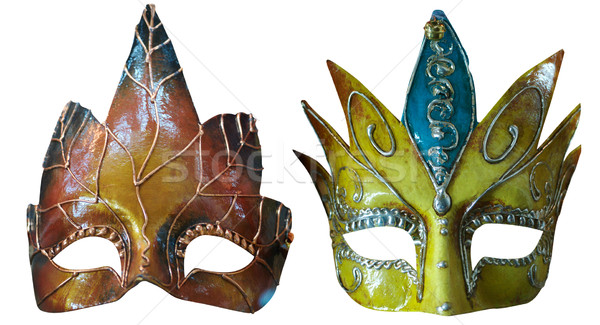 Maskeler iki venedik yalıtılmış beyaz Stok fotoğraf © frescomovie