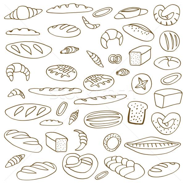 Ingesteld brood ruw Stockfoto © frescomovie