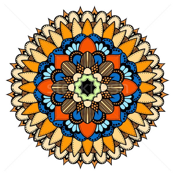 Oriental mandala dorado vector Foto stock © frescomovie