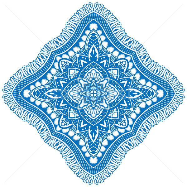 Beautiful blue mandala. Stock photo © frescomovie