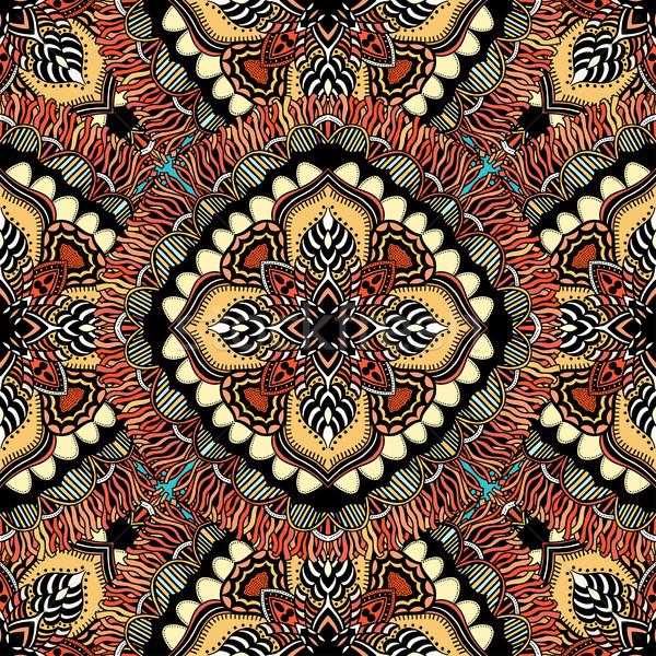シームレス 東部 パターン 定型化された テンプレート 壁紙 ストックフォト © frescomovie