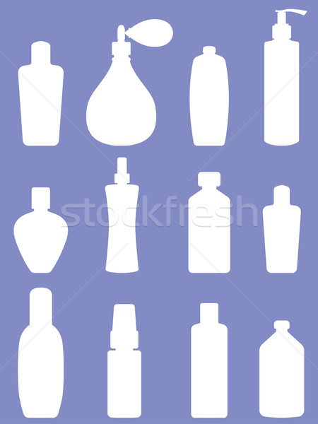 Bottle collection - vector silhouette Stock photo © frescomovie
