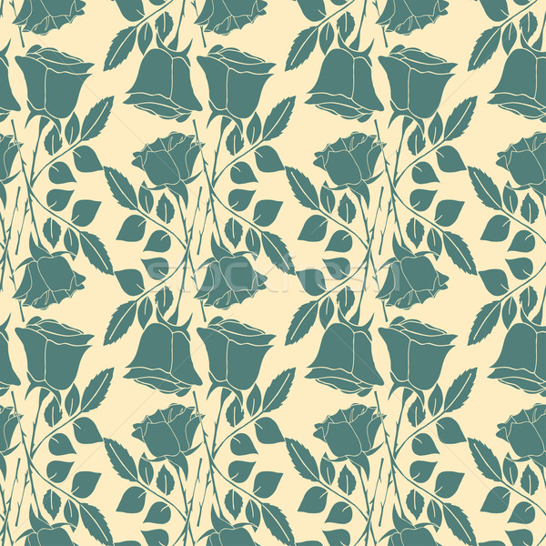 Stock photo: Seamless wallpaper pattern