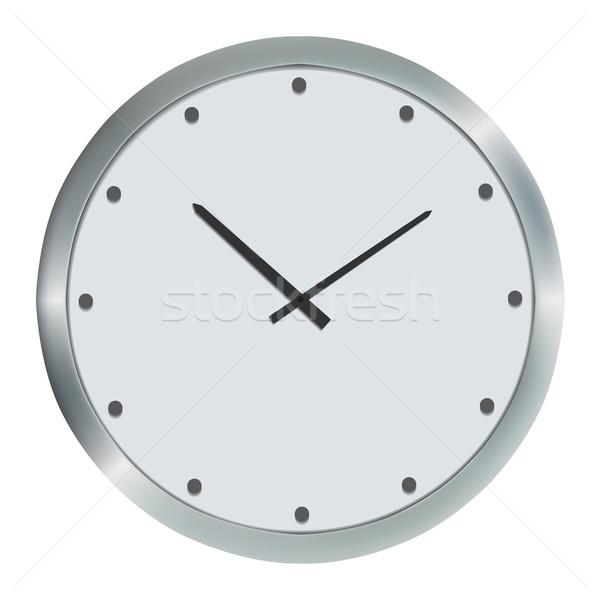 Prata parede relógio imagem isolado escritório Foto stock © frescomovie