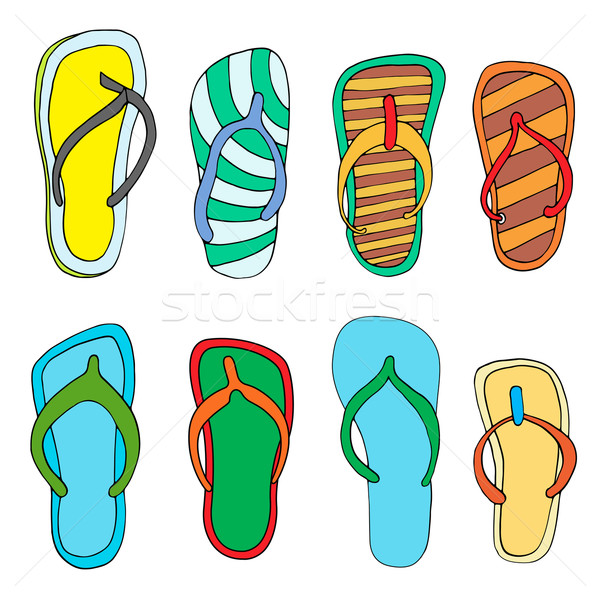 Colorful flip flops Stock photo © frescomovie