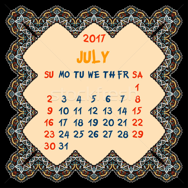 Calendar for 2017 Year. Stock photo © frescomovie
