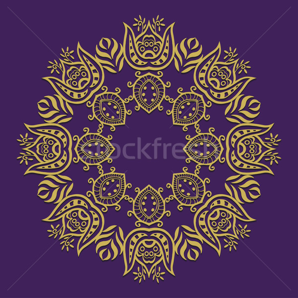 Сток-фото: аннотация · вектора · орнамент · круга · цветочный
