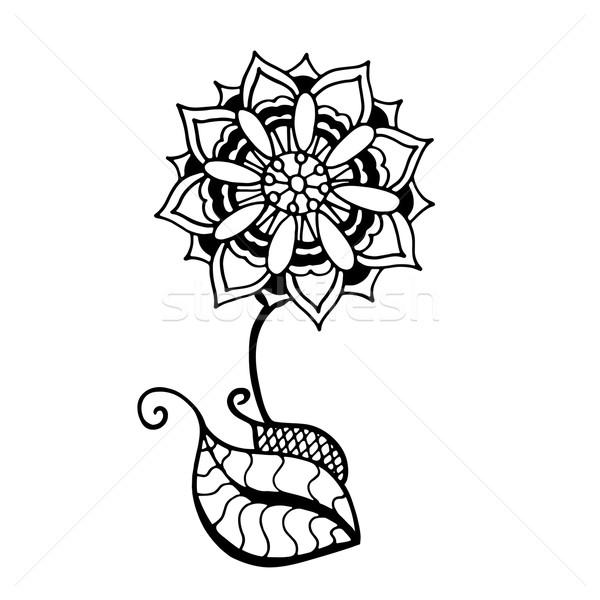 Sketch of abstract flower Stock photo © frescomovie