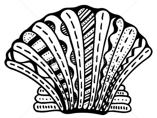 Zentangle stylized shell Stock photo © frescomovie