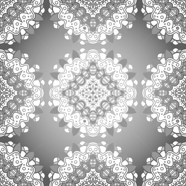 шаблон вектора черно белые бумаги Сток-фото © frescomovie