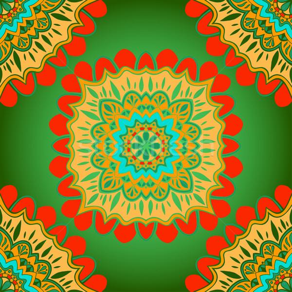 Távolkeleti színes dísz végtelenített vektor díszes Stock fotó © frescomovie