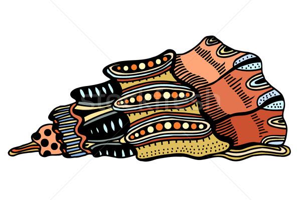 Seashell. Zentangle Vector illustration Stock photo © frescomovie