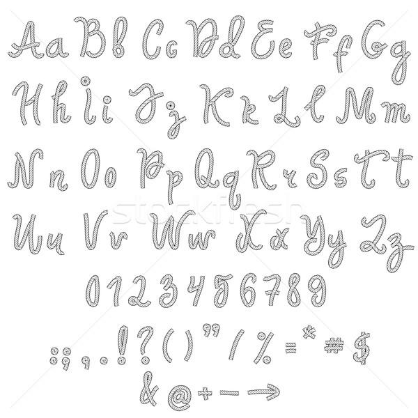 Vector alphabet. Hand drawn letters. Stock photo © frescomovie