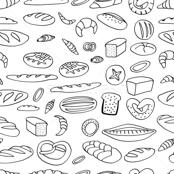 хлебобулочные иллюстрация рисованной вектора бумаги Сток-фото © frescomovie