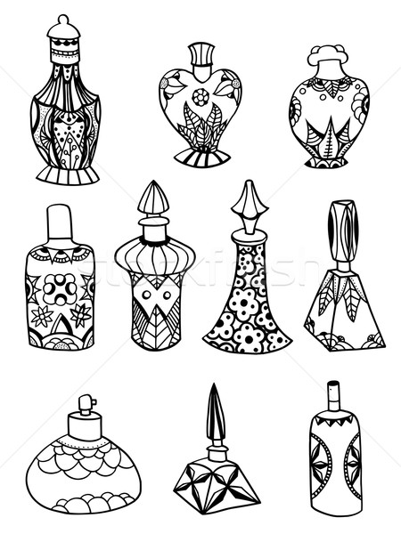 Izolált parfüm üvegek szett egyszerű test Stock fotó © frescomovie