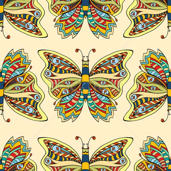 Butterfly seamless pattern Stock photo © frescomovie