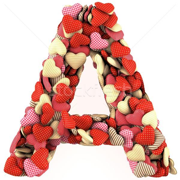 Lettre soft forme coeurs résumé Photo stock © frescomovie