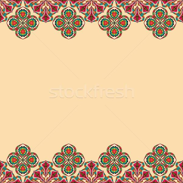 Dekoratif elemanları bağbozumu çiçek doku Stok fotoğraf © frescomovie