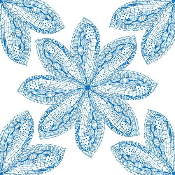 Mavi doğu vektör yalıtılmış Stok fotoğraf © frescomovie
