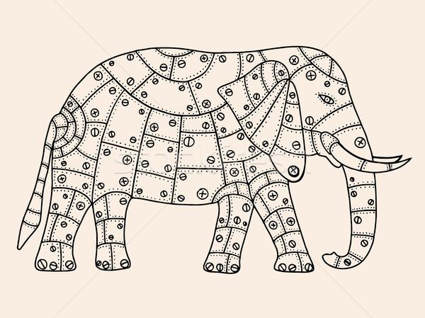 Hand Drawn elephant Stock photo © frescomovie