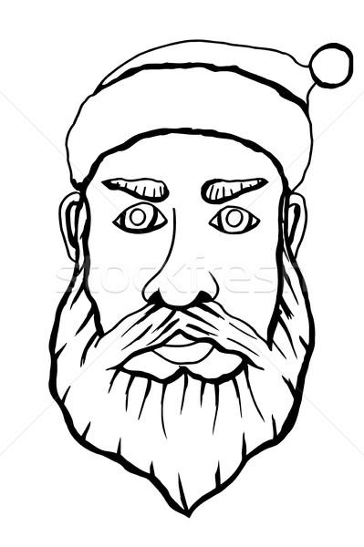 Santa claus face Stock photo © frescomovie
