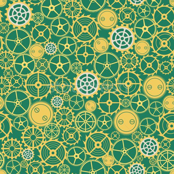 Seamless rusty cogwheel pattern  Stock photo © frescomovie
