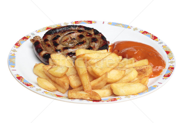 Сток-фото: продовольствие · пластина · жареный · картофель · гриль