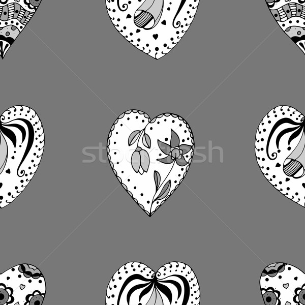 Sketchy Doodle Heart Stock photo © frescomovie