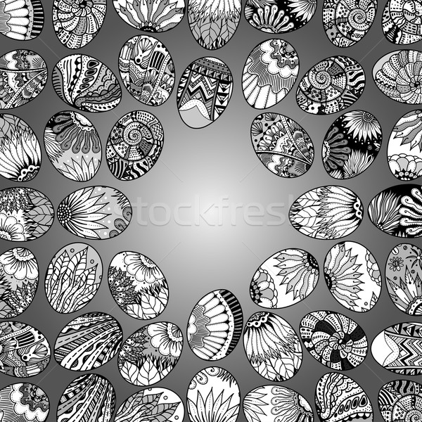 eggs background pattern Stock photo © frescomovie
