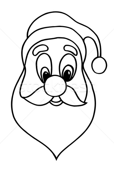 Stock photo: Santa claus face