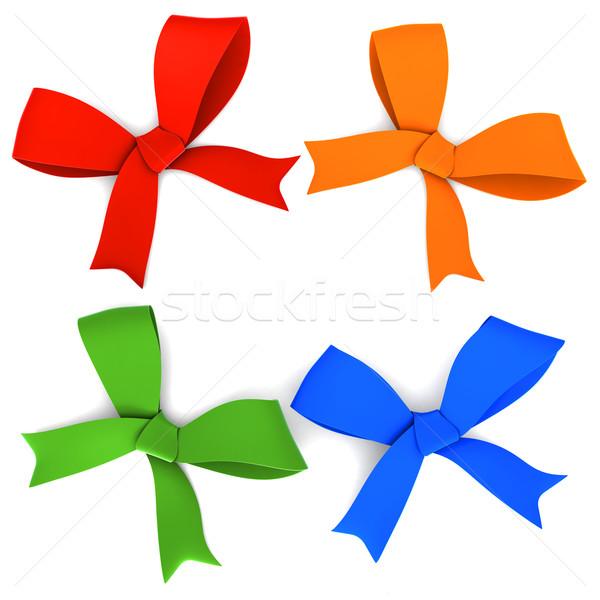 Set of bows Stock photo © frescomovie