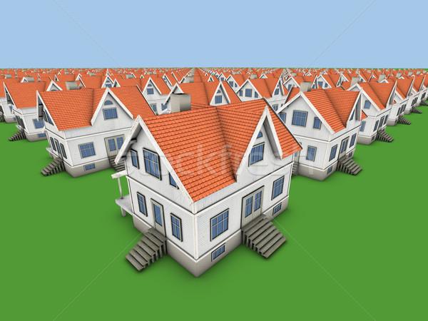 Maisons nouvelle famille maisons mode design Photo stock © frescomovie