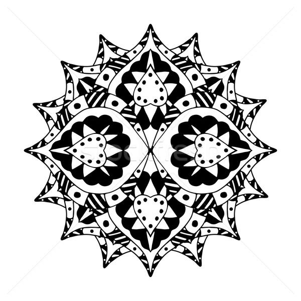 Mandala étnicas decorativo elementos dibujado a mano textura Foto stock © frescomovie