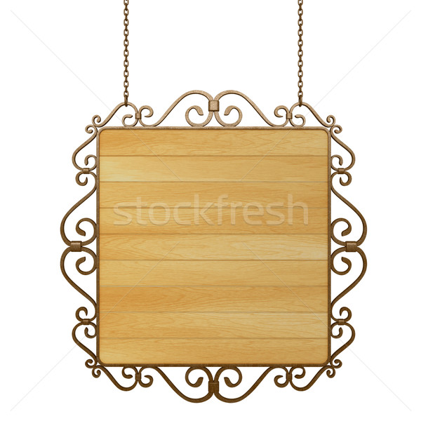 wooden sign Stock photo © frescomovie