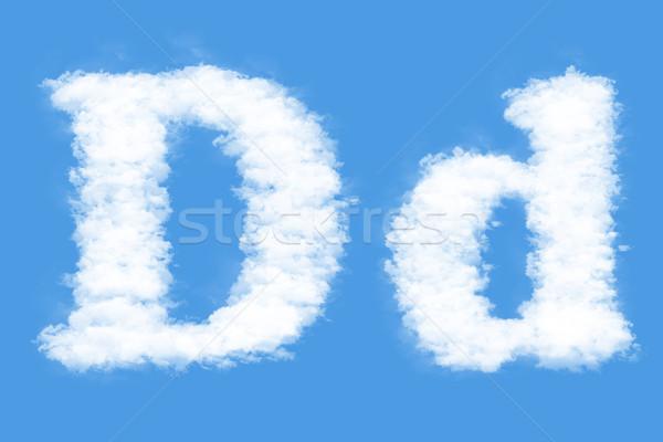 Levél felhők forma d betű égbolt füst Stock fotó © frescomovie