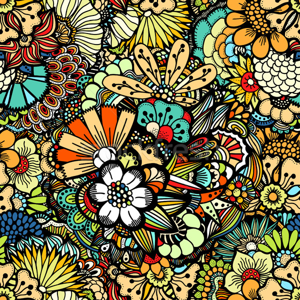 Flowers seamless pattern Stock photo © frescomovie
