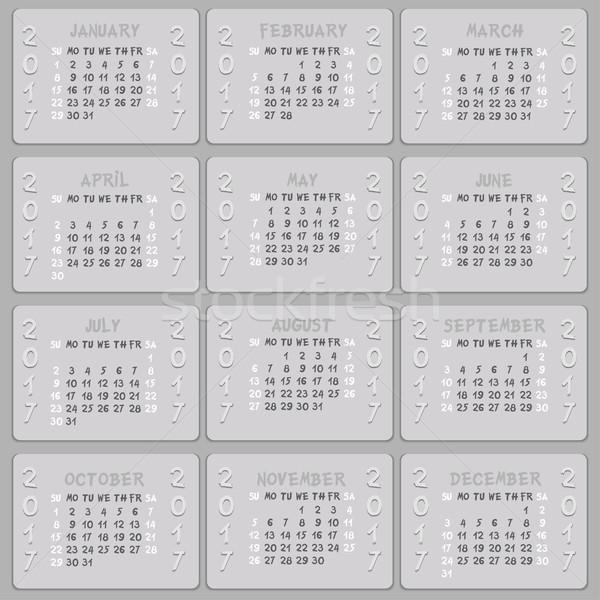Vector calendar 2017 Stock photo © frescomovie