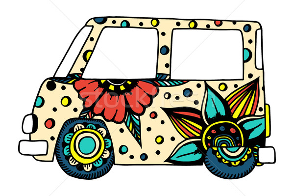 car a mini van Stock photo © frescomovie