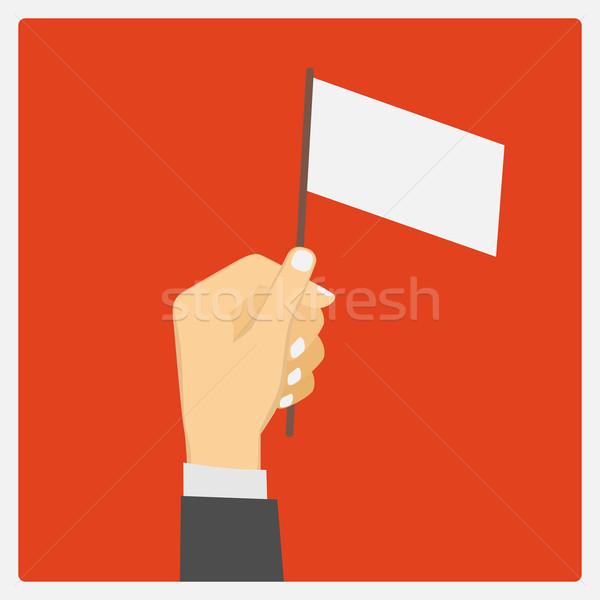 empty flag Stock photo © frescomovie