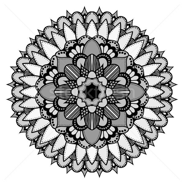 мандала этнических орнамент вектора круга Сток-фото © frescomovie