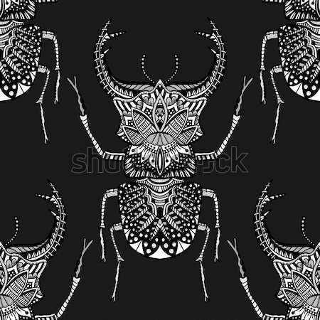 Vector bug monochroom Tribal insect volwassen Stockfoto © frescomovie