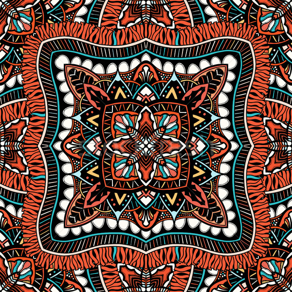 Seamless, eastern pattern of mandalas Stock photo © frescomovie