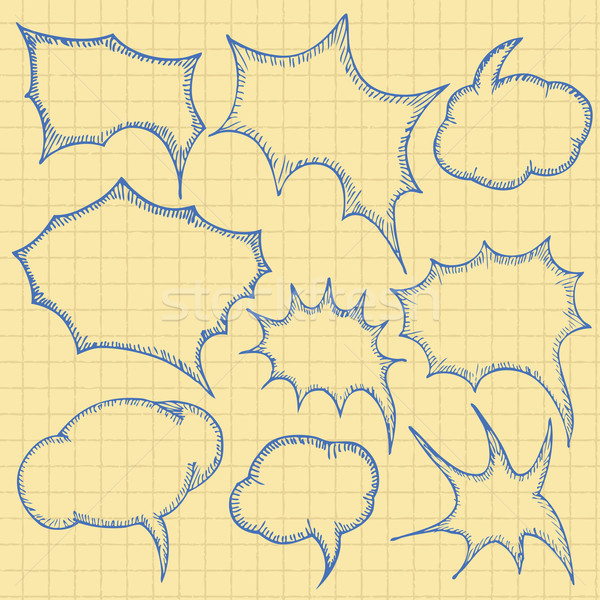 sketch bubbles Stock photo © frescomovie