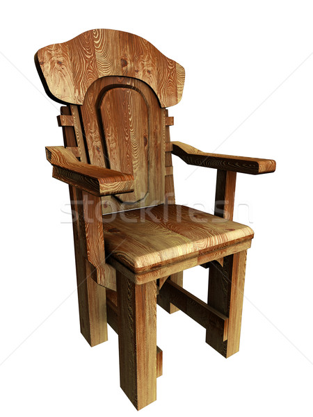 Old wooden stylish chair. 3d Illustration.  Stock photo © frescomovie